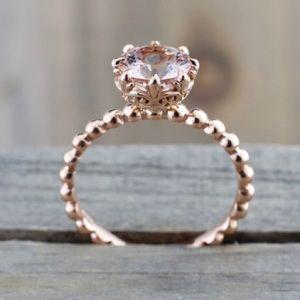 2.04ct Natural Morganite Engagement Ring & Band